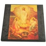 Лики святых на шунгитовых пластинах 10×10 см