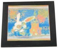 "Пластина из шунгита ""Кролик с часами"""