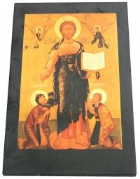 """Лик """"Христос Вседержитель с припадающими святыми"""""""