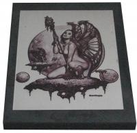 """Картина """"Девушка-бабочка"""" на пластине 10×15 см"""