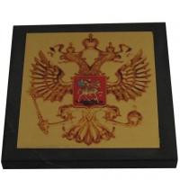 Герб России на шунгитовой пластине 10×10 см