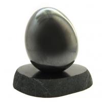 """Набор """"Яйцо из шунгита 9 см на подставке"""""""