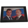 Портрет Д.А.Медведева и В.В.Путина на шунгитовой пластине 10×15 см