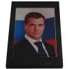 Портрет Д.А.Медведева на шунгитовой пластине 10×15 см
