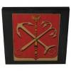 Герб Санкт-Петербурга на шунгитовой пластине 10×10 см