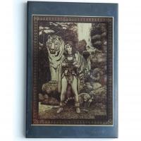 """Картина """"Девушка с тигром"""" на пластине 10×15 см"""